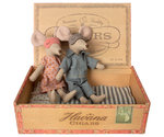 Mum & dad mice in sigar box - Maileg