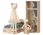 Dancing cat & mouse in shoebox - Maileg