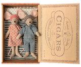 Mum and dad mice in cigar box - Maileg