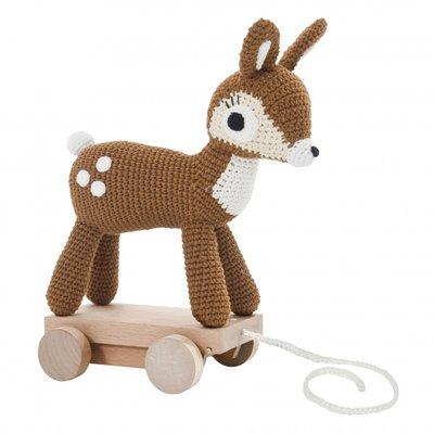 Gehaakt trekspeeltje Bambi - Sebra