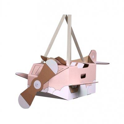 Mister Tody - Kartonnen vliegtuig roze