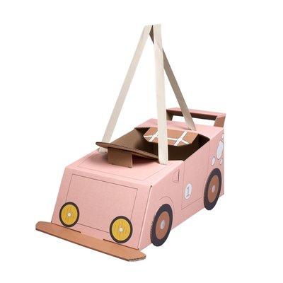 Mister Tody - Kartonnen auto roze