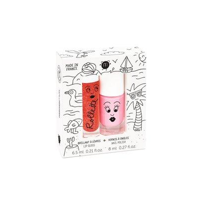 Nailmatic - nagellak Cookie en lipgloss aardbei