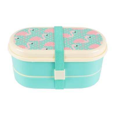 Bento Lunchbox Flamingo's - Sass & Belle