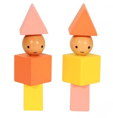 A Little Lovely Company - Wooden blocks girls