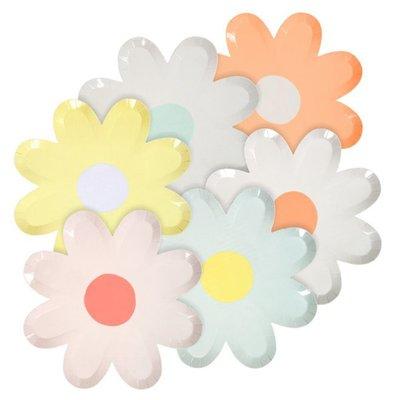Kleurrijke madeliefjes borden - Meri Meri