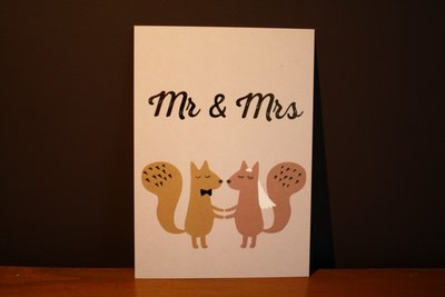 Mr & Mrs kaart - Timi of Sweden