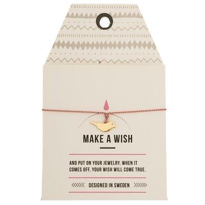 Make A Wish Armband - vogel goud