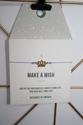 Make A Wish Armband - lotus bloem goud