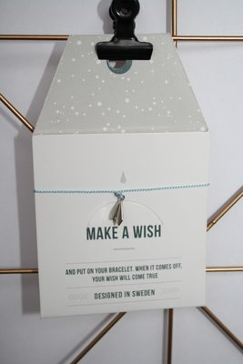 Make A Wish Armband - origami vliegtuig zilver - Timi of Sweden