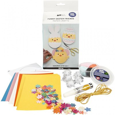 DIY Kit - Funny Easter friends - Papier knutselen