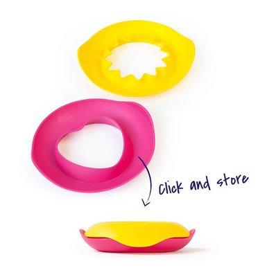 Strandvormpjes Sunny love - roze hartje & gele zon -Quut