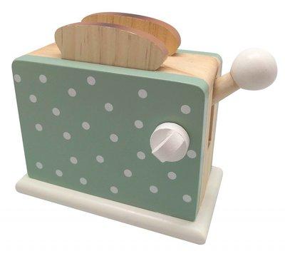Broodrooster in munt groen met witte stippen - Magni