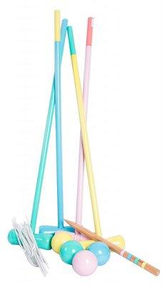 Croquet spel in pastelkleuren - Magni