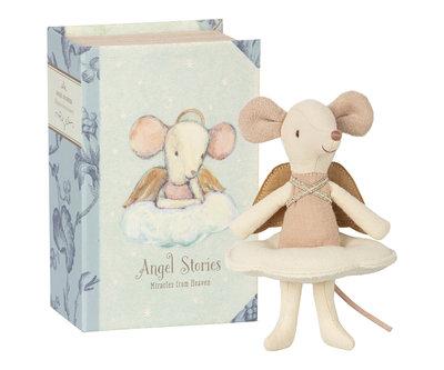 Engel muis, grote zus in boek - Maileg