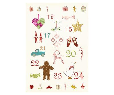 Kerstmis motieven dubbele kerstkaart - Maileg