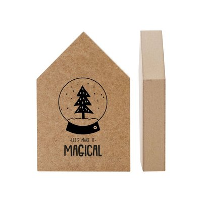 Kerst huisje MDF 'Lets make it magical' - Zoedt