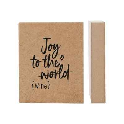 Kerst huisje MDF 'Joy to the wine' - Zoedt