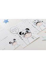 Leuke uitnodigingskaarten met Panda, Tijger en Zebra - Zoedt