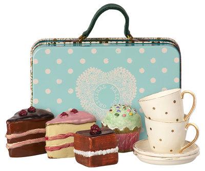 Koffer met taartjes & koffietasjes voor 2 personen - Maileg