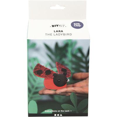 Knutselpakket Silk Clay Lara het lieveheersbeestje/kapoen boetseren - Creativ Company