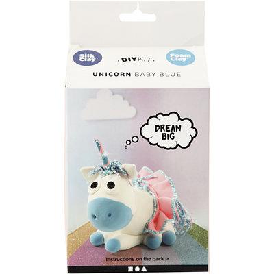 Knutselpakket Foam & Silk Clay Eenhoorn baby Blue boetseren - Creativ Company
