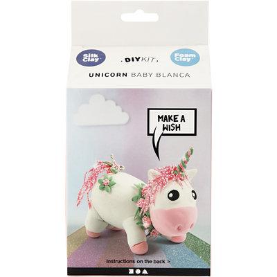 Knutselpakket Foam & Silk Clay Eenhoorn baby Blanca boetseren - Creativ Company