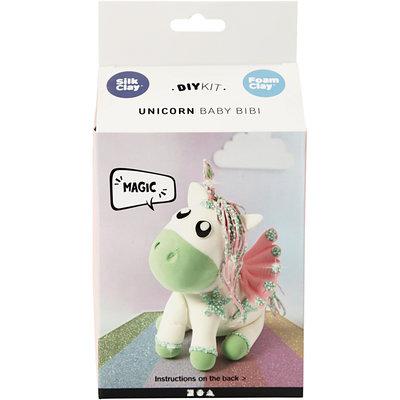 Knutselpakket Foam & Silk Clay Eenhoorn baby Bibi boetseren - Creativ Company