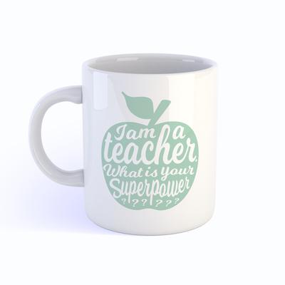 Mok I am a teacher Mint - Studio Inktvis