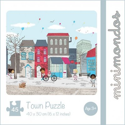 Puzzel Stad 45-delig - Minimondos