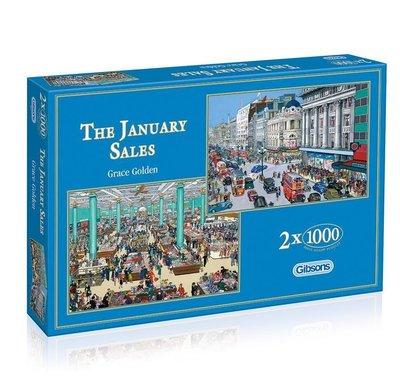 Puzzel The January Sales - 2 x 1000 stukjes- Gibsons