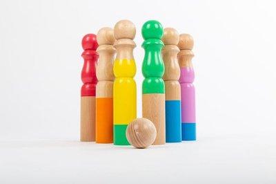 Bowlingspel regenboogkleur - Mora Play