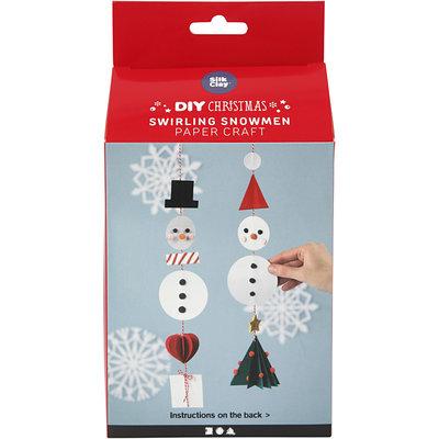 Knutselpakket Papier knutselen Dansende sneeuwpoppen - Creativ Company
