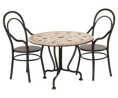 Eettafel met 2 stoelen - Maileg