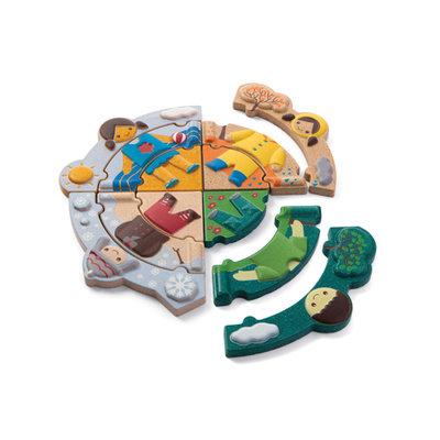 Puzzel Seizoenen kledij - Plan Toys