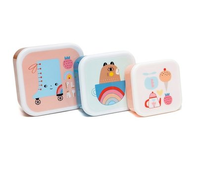 Snackdoosjes rolschaats - set van 3 - Petit Monkey