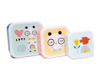 Snackdoosjes panda love - set van 3 - Petit Monkey
