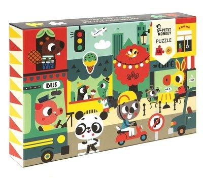 Puzzel In de stad - 4 jaar - Petit Monkey
