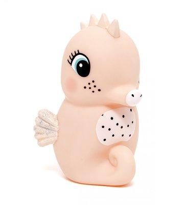 Nachtlamp zeepaard - peach - Petit Monkey