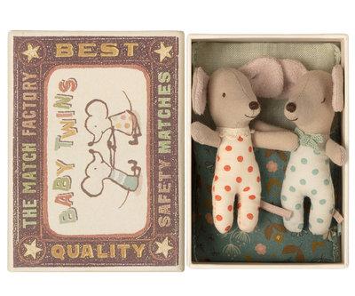 Tweeling baby muisjes in doosje - Maileg