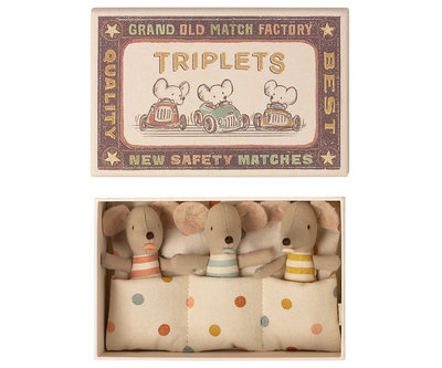Drieling baby muisjes in doosje - Maileg