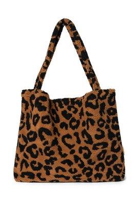 LIMITED EDITION - Teddy leopard brown mom-bag