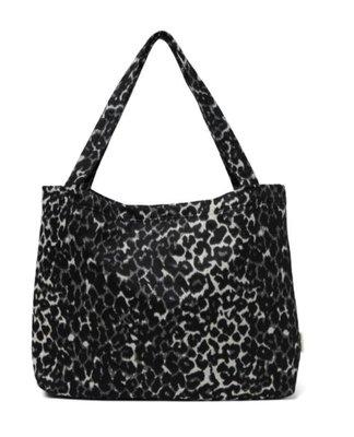 Black jaguar mom-bag