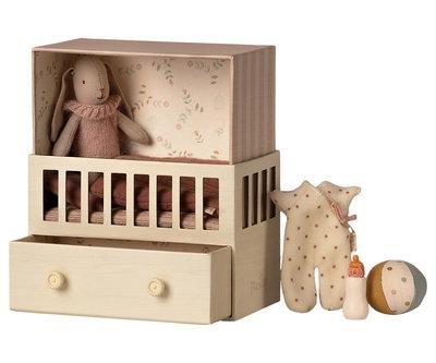 Babykamer met micro konijn - Maileg