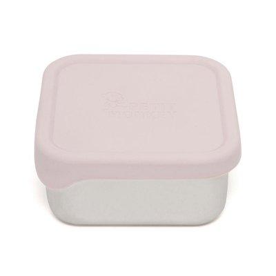 Snackdoosjes Stainless Steel - licht roze - Petit Monkey