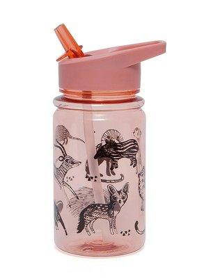 Drinkfles dieren roze - Petit Monkey