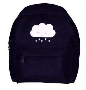 A Little Lovely Company - Zwarte rugzak met wolkje
