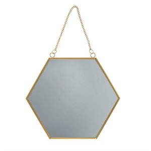 Sass & Belle - Gouden zeshoekige spiegel
