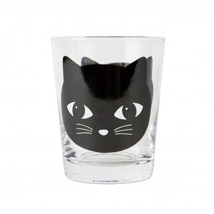 Sass & Belle - Glas zwarte kat