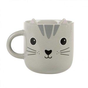 Sass & Belle - Koffietas grijze kat